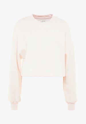 RIVAL GRAPHIC CREW - Mikina - apex pink/medium heather/onyx white