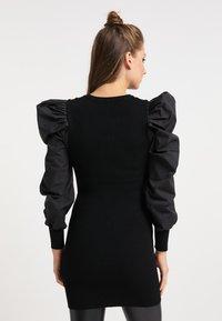 myMo ROCKS - Vestido de punto - schwarz schwarz - 2