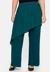 Sheego - Trousers - deep green - 0
