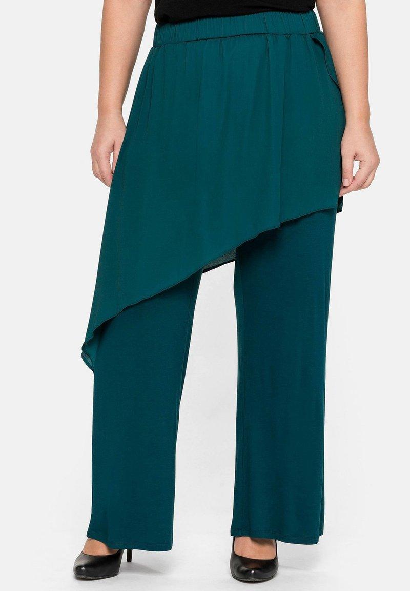 Sheego - Trousers - deep green
