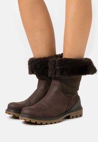 ECCO - TREDTRAY - Winter boots - dark brown - 0