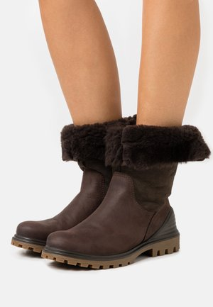 TREDTRAY - Bottes de neige - dark brown