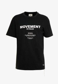 Redefined Rebel - SETH TEE - Print T-shirt - black - 4