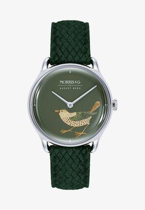 UHR MORRIS & CO SILVER BIRD GREEN PERLON 30MM - Watch - green