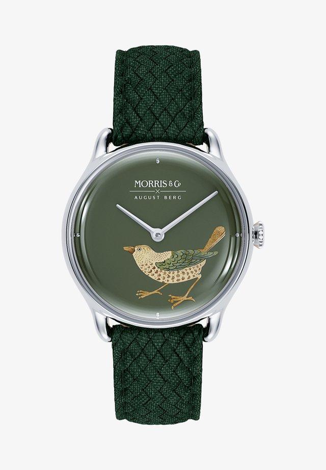 UHR MORRIS & CO SILVER BIRD GREEN PERLON 30MM - Ure - green