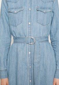 Polo Ralph Lauren - LONG SLEEVE DAY DRESS - Denim dress - leaton wash - 6