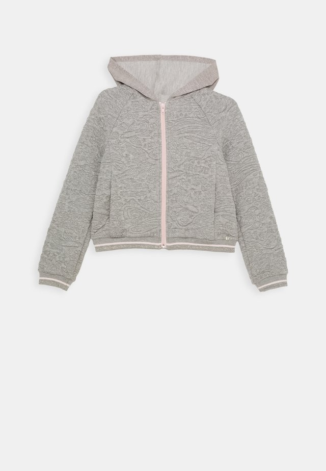 ZIP THROUGH HOODIE - Sweat à capuche - gris chiné foncé