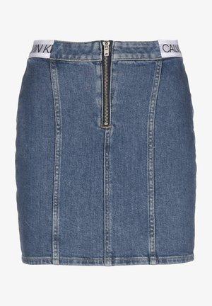 Pencil skirt - icn mid blue