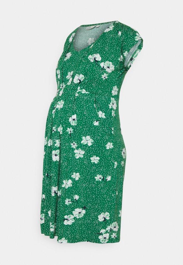 FLORAL MATERNITY NURSING  - Robe en jersey - green