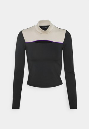 DREW CUTOUT TURTLENECK - Long sleeved top - black/beige
