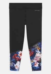 Nike Sportswear - GIRLS FLORAL - Legíny - black - 1