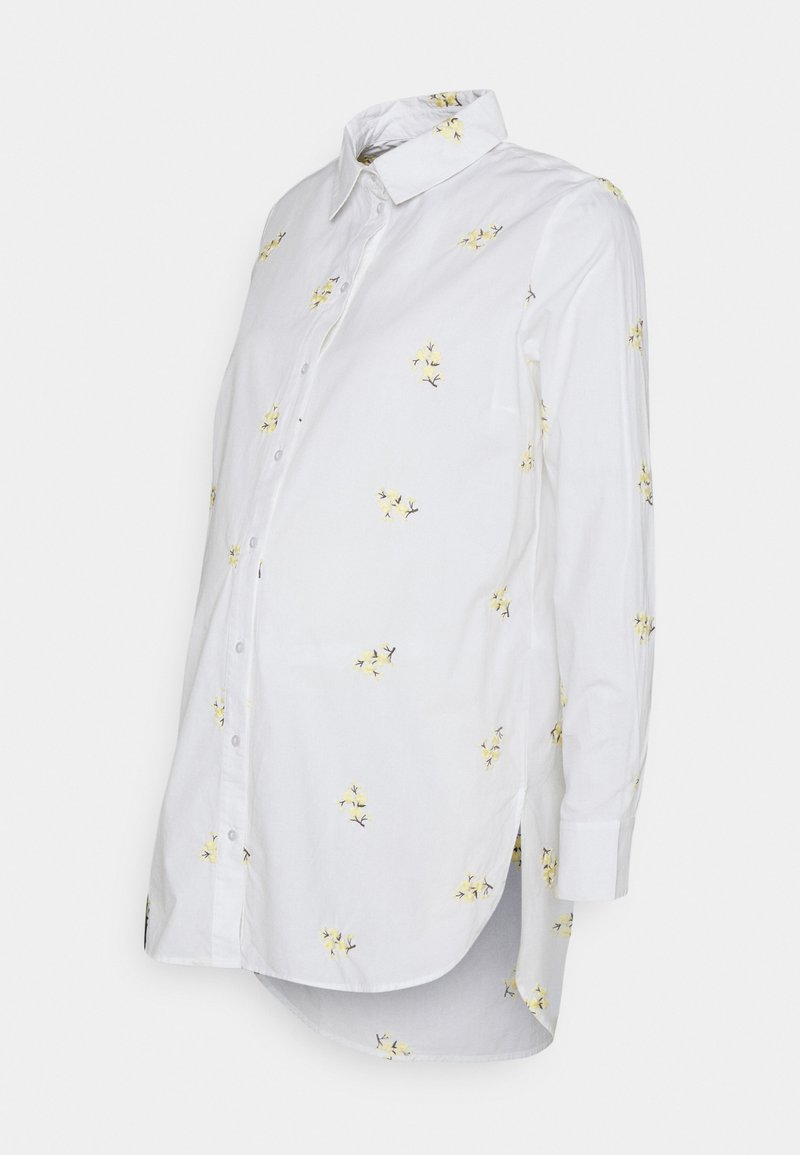 Pieces Maternity - PCMNIVA - Button-down blouse - bright white/pale banana
