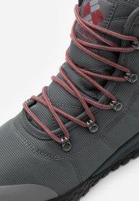 Columbia - FAIRBANKS OMNI-HEAT - Winter boots - grey steel/red jasper - 5