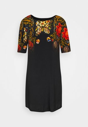VEST BUTTERFLOWER DESIGNED BY MR CHRISTIAN LACROIX - Vestido informal - black
