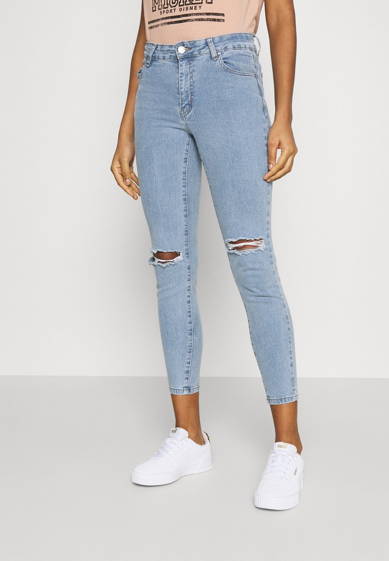 Cotton On - MID RISE CROPPED - Jeans Skinny Fit - flynn blue