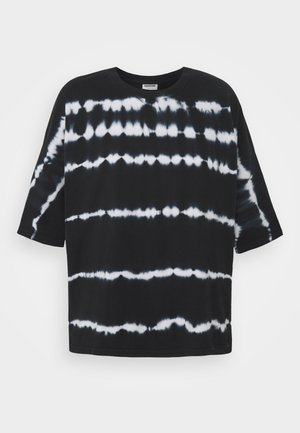 NMBUSTER TIE DYE - T-shirts med print - black