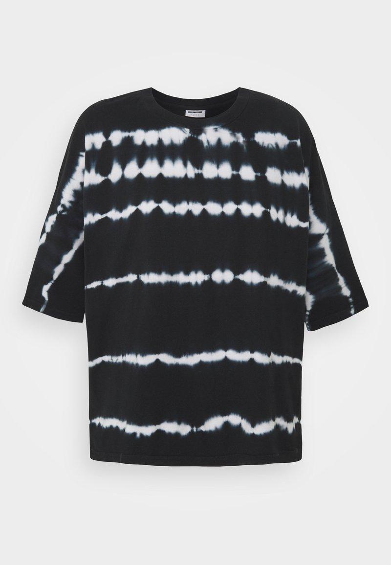 Noisy May Tall - NMBUSTER TIE DYE - T-shirt z nadrukiem - black
