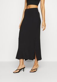 Even&Odd - BASIC - Maxi skirt - Maxi skirt - black - 0