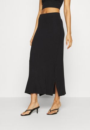 BASIC - Maxi skirt - Falda larga - black