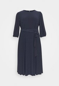 Lauren Ralph Lauren Woman - FELIA LONG SLEEVE DAY DRESS - Jersey dress - lighthouse navy/colonial - 0