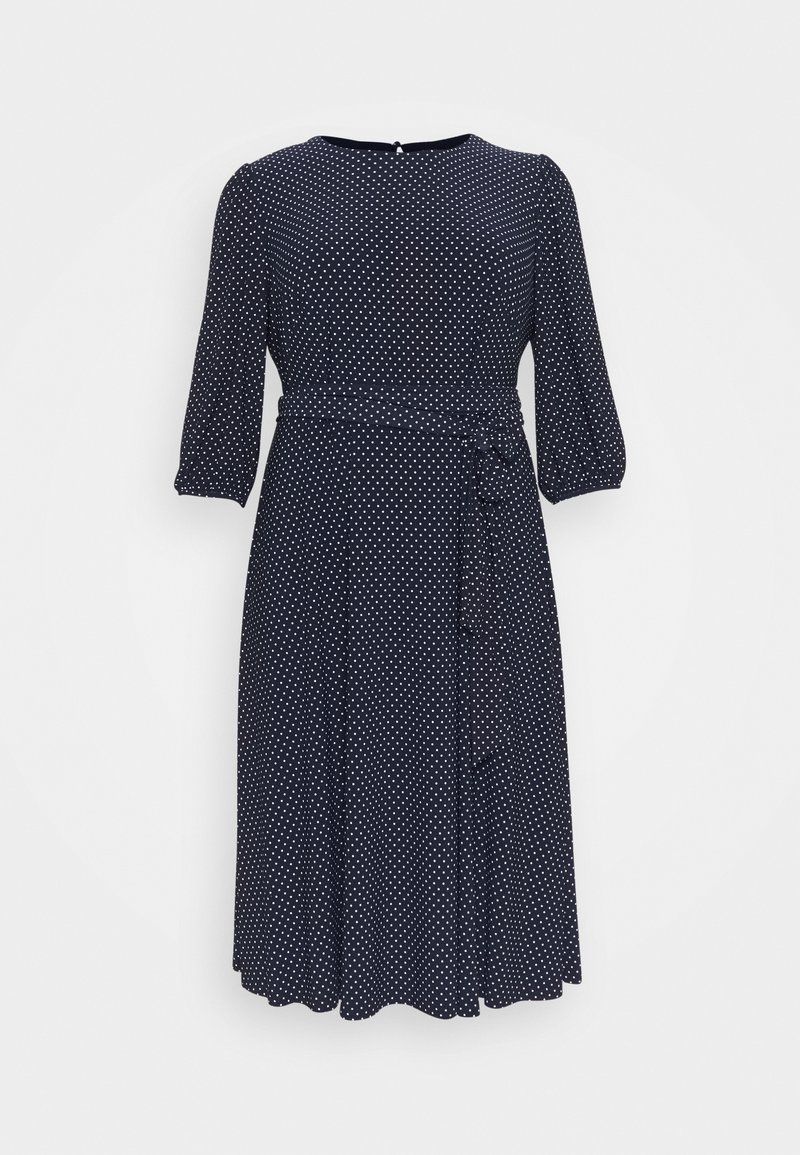 Lauren Ralph Lauren Woman - FELIA LONG SLEEVE DAY DRESS - Jersey dress - lighthouse navy/colonial