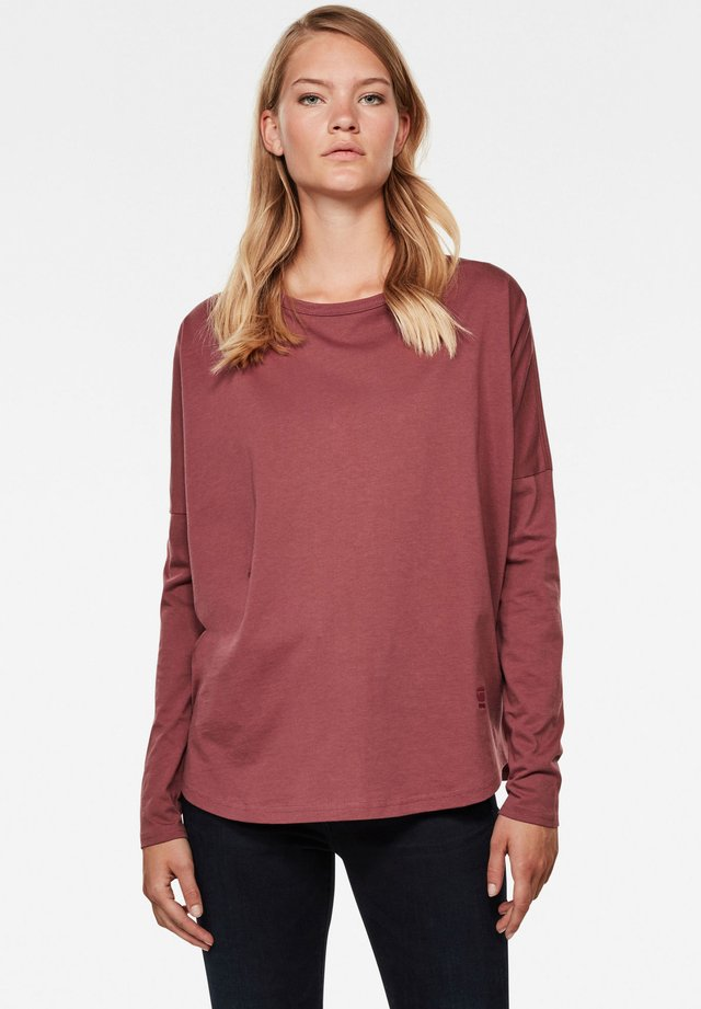 GSRAW GR LOOSE ROUND LONG SLEEVE - Maglietta a manica lunga - light maroon