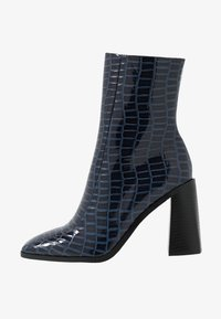 WIDE FIT KIAYA - High heeled ankle boots - navy