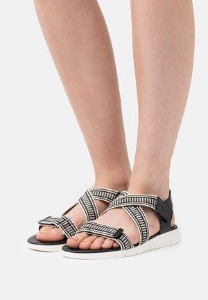 VITTORIA  - Sandals - black/beige