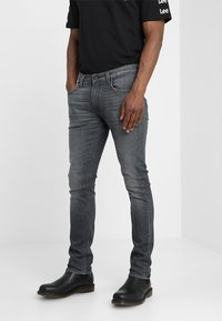 Lee - LUKE - Jeansy Slim Fit - grey used - 0