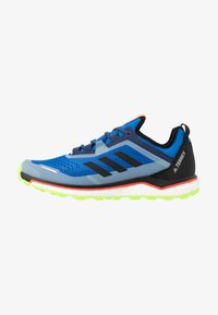 adidas Performance - TERREX AGRAVIC FLOW RUNNING - Trail running shoes - glow blue/core black - 0