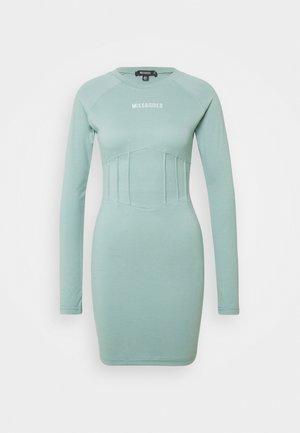 BRANDED CORSET WAIST DRESS - Fodralklänning - blue
