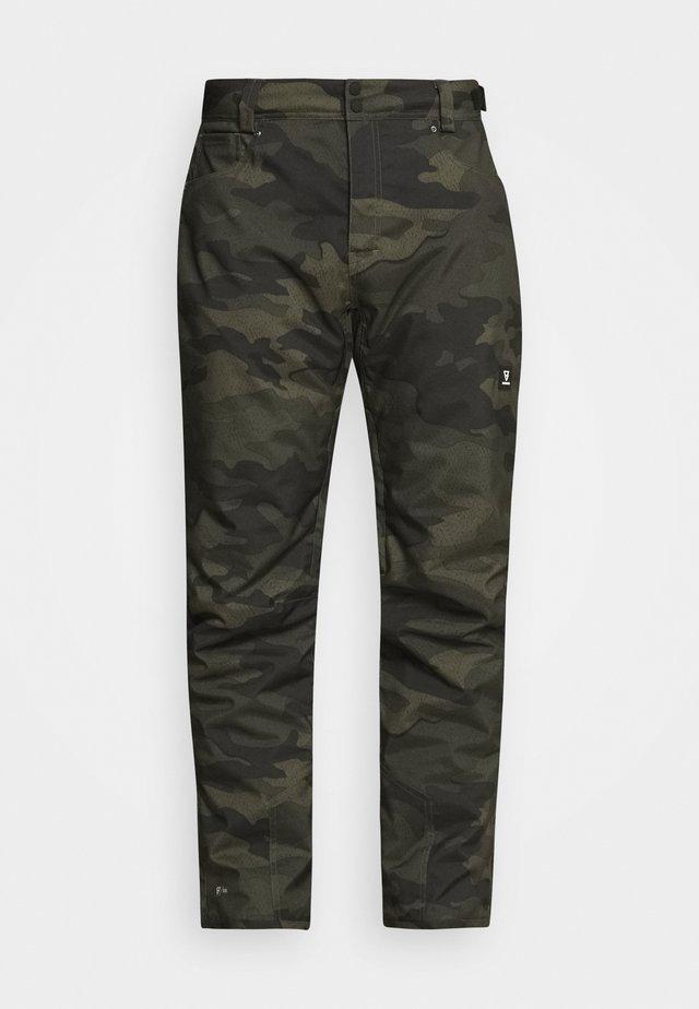 KITEBAR CAMO MENS SNOWPANTS - Pantalon de ski - pine grey