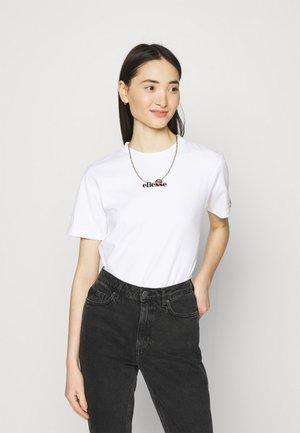 MIYANA - Camiseta estampada - white-smu