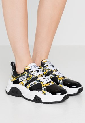 Sneakers laag - black/yellow