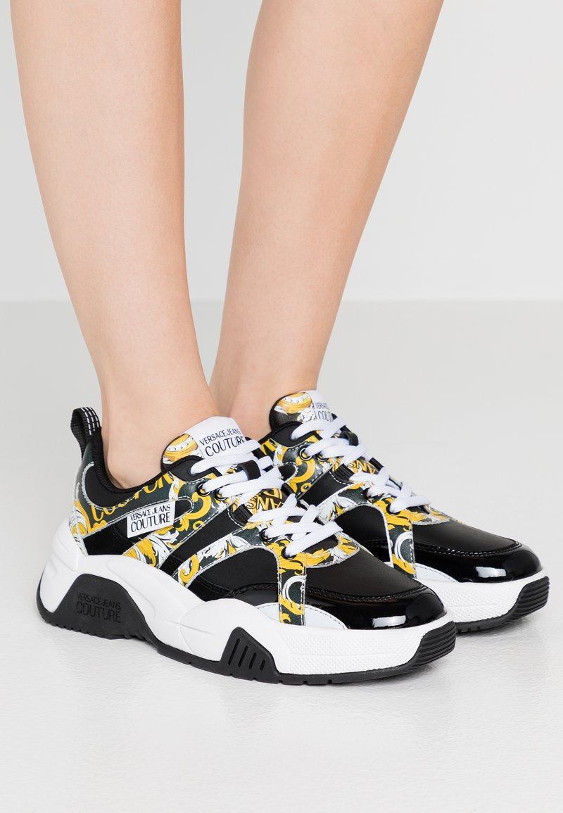 Versace Jeans Couture - Baskets basses - black/yellow