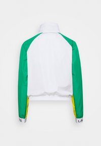 Lacoste Sport - TRACKJACKET - Training jacket - white/palm green/pineapple/navy blue - 1