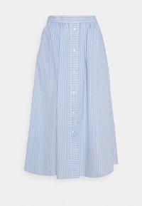 YAS - YASCASA MIDI SKIRT - A-line skirt - eggnog/blue - 0