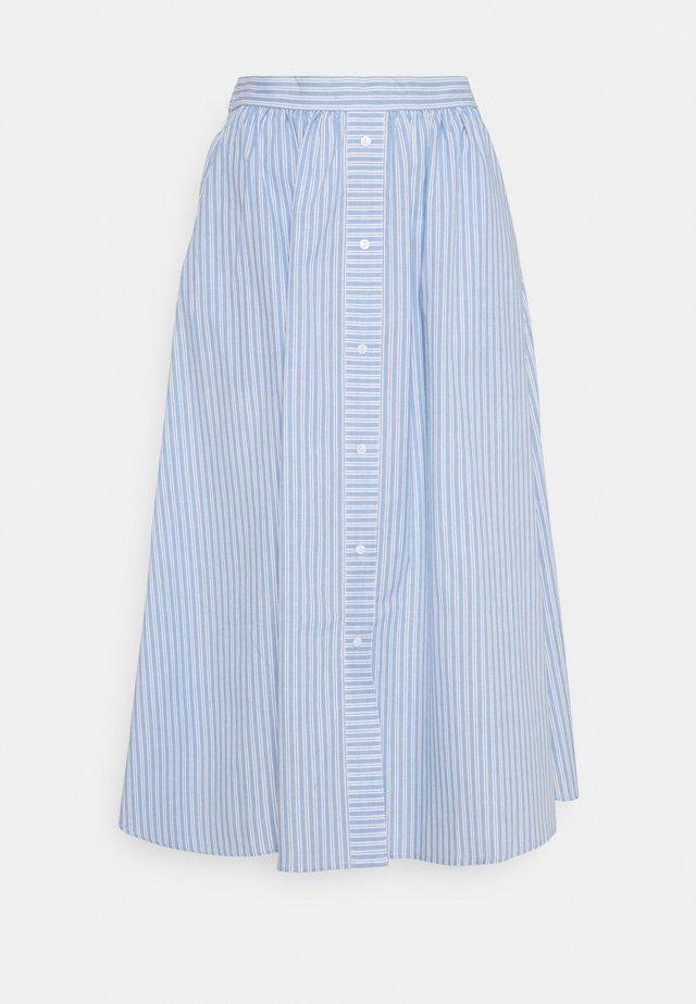 YASCASA MIDI SKIRT - A-line skirt - eggnog/blue