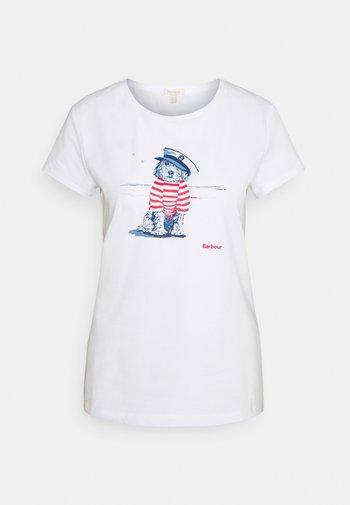SOUTHPORT TEE - Print T-shirt - white