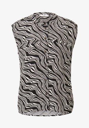 Overhemdblouse - black wavy design