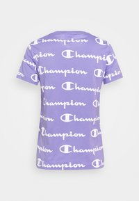 Champion - CREWNECK - T-shirt con stampa - lilac/white - 1