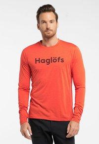 Haglöfs - RIDGE LS TEE - Long sleeved top - habanero - 0