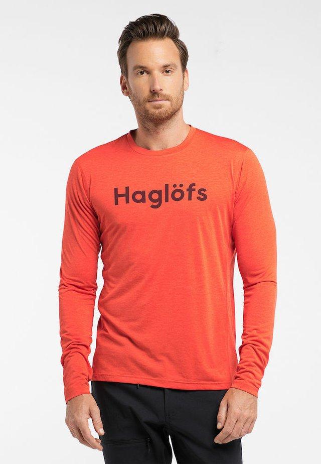 RIDGE LS TEE - Long sleeved top - habanero