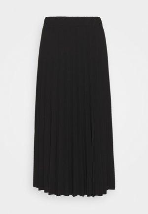 MONICA PLEATED SKIRT - Áčková sukně - black
