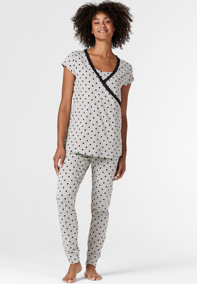 MIT PRINT - Haut de pyjama - light grey melange