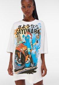 Bershka - Print T-shirt - white - 7