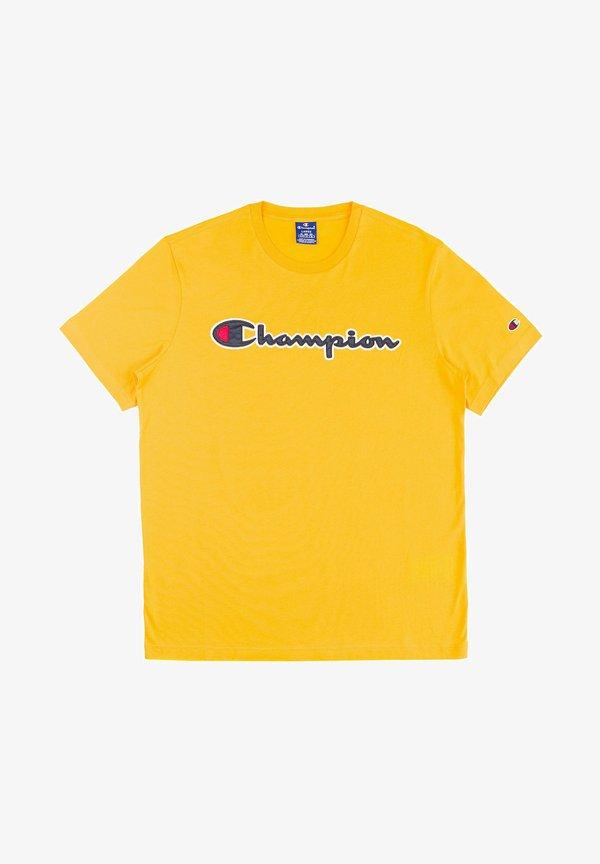 Champion T-shirt z nadrukiem - dark yellow/ciemnożÓłty Odzież Męska YSJR