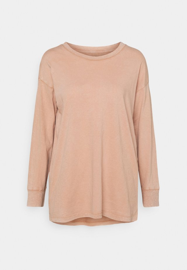 Long sleeved top - raw sienna