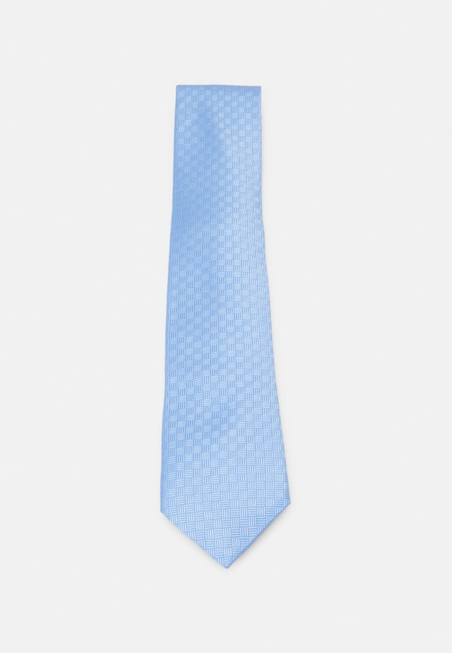 CROSSHATCH SOLID - Cravatta - light blue