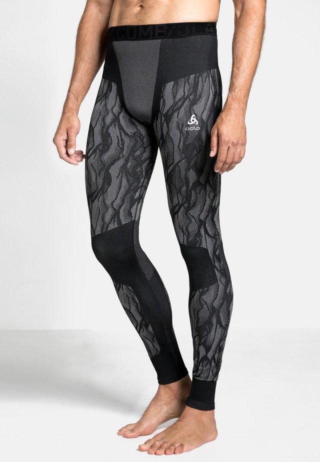 Leggings - black/odlo steel grey/silver